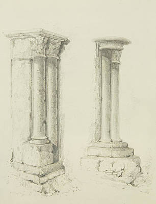 Construction Drawing - Columns by Thomas Leeson the Elder Rowbotham