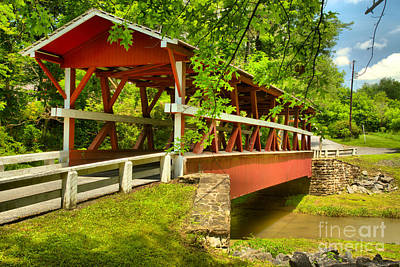Photograph - Colvin Bridge Over Shawnee Creek by Adam Jewell