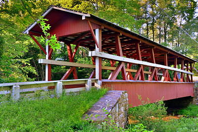 Photograph - Colvin/calvin Covered Bridge by Lisa Wooten