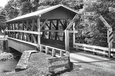 Photograph - Colvin Covered Bridge Black And White by Adam Jewell