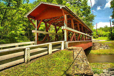 Photograph - Colvin King Post Covered Bridge by Adam Jewell