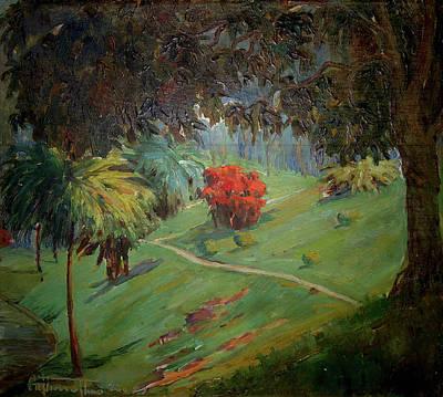 Tim Painting - Com Arbusto Vermelho by Arthur Timotheo