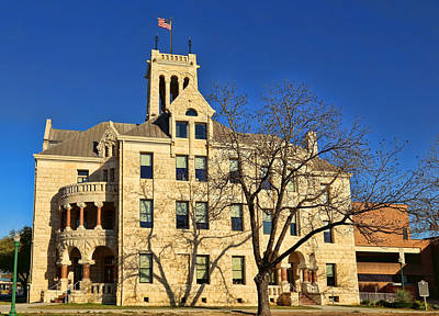 Photograph - Comal County Courthouse 2 by Judy Vincent