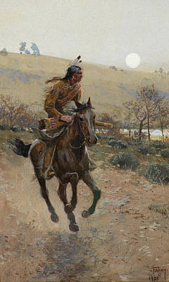 Comanche Painting - Comanche by Henry Farny