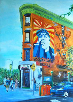Comandante Biggie Art Print by Wayne Pearce