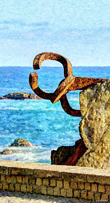 Digital Art - Comb Of The Wind By Chillida 04 - Painting by Weston Westmoreland
