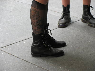 Photograph - Combat Boots X 2 by Renee Holder