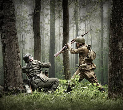 Combat Photograph - Combat by Dmitry Laudin