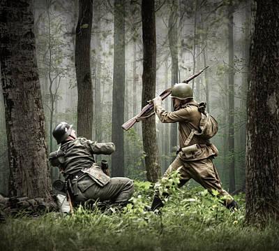 Combat Art Print by Dmitry Laudin