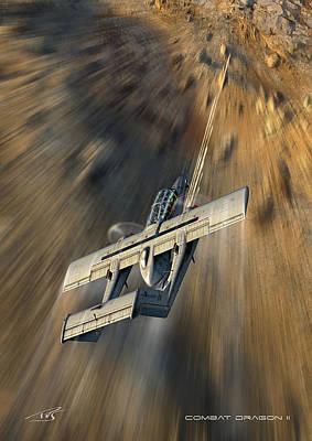 Iraq Digital Art - Combat Dragon II by Peter Van Stigt
