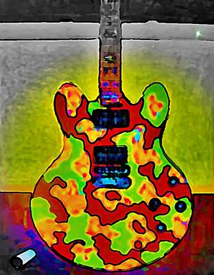 Rollingstone Painting - Combat Guitar by Gregory McLaughlin