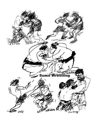 Sports Sketching Drawing - Combat Sports by Sam Chinkes