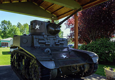 Photograph - Combat Tank In Pe Ell by Tikvah's Hope