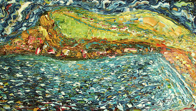 Painting - Combe Martin by Pete Caswell