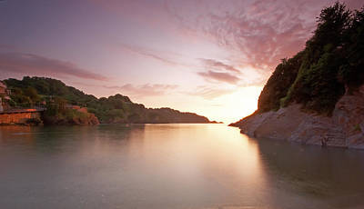 Summer Squall Photograph - Combe Martin Sunset by Michael Stretton