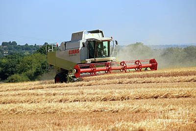 Photograph - Combine Harvest Time by Julia Gavin