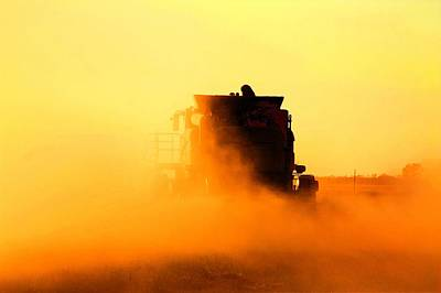 Farmhouse Royalty Free Images - Combine the dust Royalty-Free Image by David Matthews