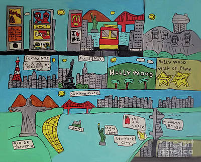 Wall Art - Painting - Combo City San Fran by Brandon Drucker