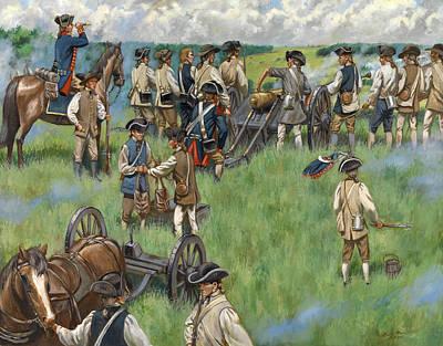 Comb's Hill - Battle Of Monmouth Original by Mark Maritato