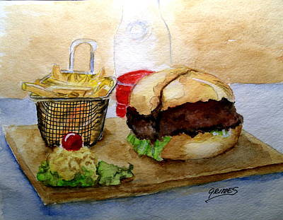 Painting - Come And Get It Dinner Is Ready by Carol Grimes
