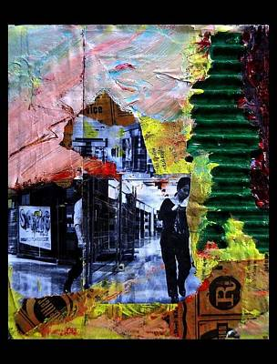 Cardboard Mixed Media - Come And Go by Lech Klekot