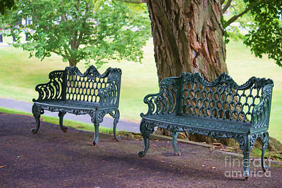 Photograph - Come And Sit Benches by Roberta Byram