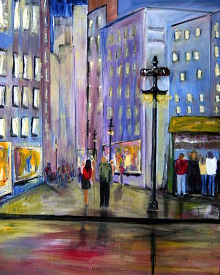 Cityscenes Painting - Come Away With Me by Julie Lueders