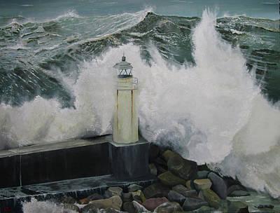 Portofino Italy Painting - Come Back by Alberto Perini Sea