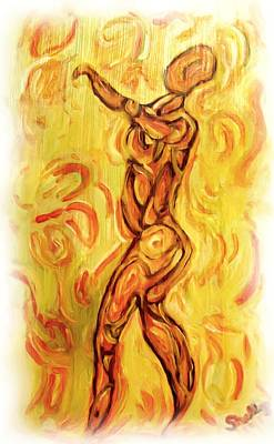 Goddess Painting - Come Dance With Me by Shelley Bain