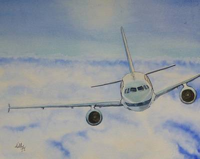Painting - Come Fly With Me.... Plane by Kelly Mills