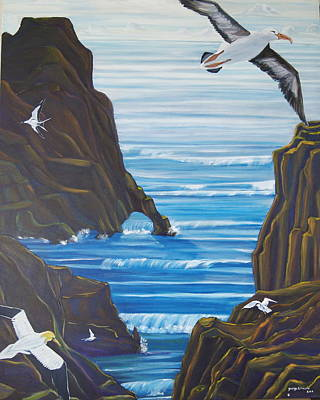 Albatross Painting - Come Fly With Us by George Chacon
