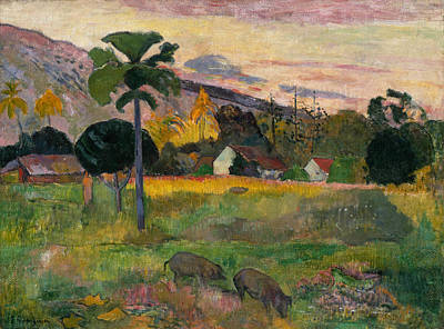 Painting - Come Here  by Paul Gauguin
