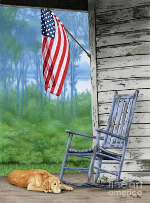 Old Glory Painting - Come Home by Sarah Batalka