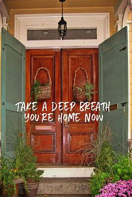 Come On In Quote Art Print by JAMART Photography