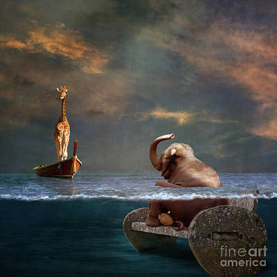 Surreal Digital Art - Come On My Friend by Martine Roch