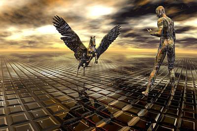 Pegasus Digital Art - Come Pegasus by Claude McCoy