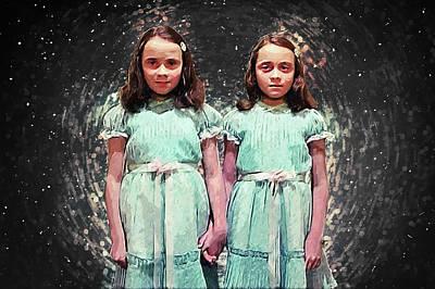 Jack Nicholson Digital Art - Come Play With Us - The Shining Twins by Taylan Apukovska