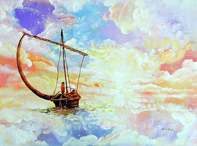 Come With Me Painting - Come Sail Away With Me by Ashleigh Dyan Bayer