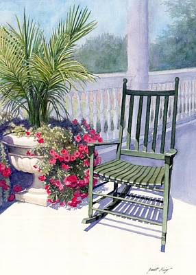 Painting - Come Sit A Spell by Janet King