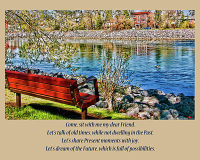 Wall Art - Photograph - Come, Sit With Me My Dear Friend by Rhonda McDougall
