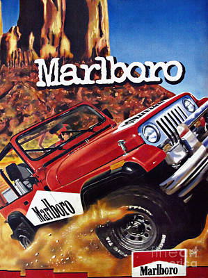 Jeep Drawing - Come To Marlboro Country by Daliana Pacuraru