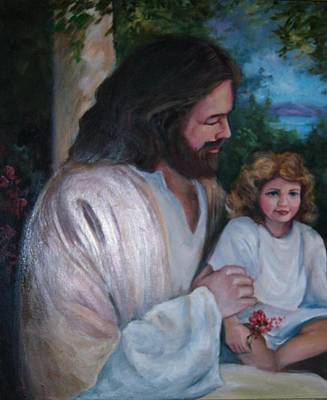 Abba Father Painting - Come To Me Little Children by Judy Groves