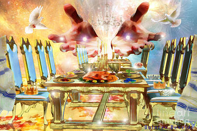 Invitations Digital Art - Come To The Banquet Table by Dolores Develde