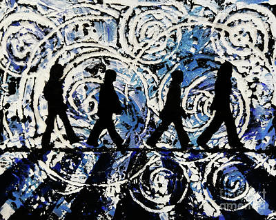 Painting - Come Together On The Celestial Abbey Road by Alys Caviness-Gober