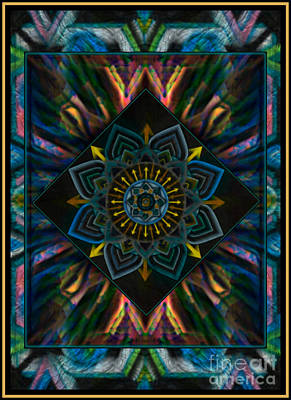 Mixed Media - Come Together Peace Mandala by Wbk