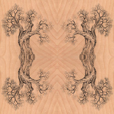 Digital Art - Come Together Tree 38 Hybrid 1  by Brian Kirchner