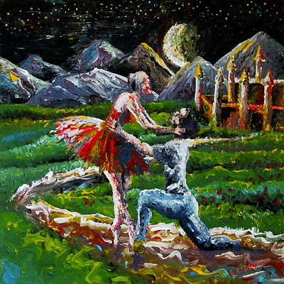 Come With Me Painting - Come With Me by Aarron  Laidig