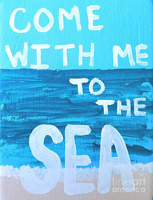 Hemmingway Painting - Come With Me To The Sea by Scott D Van Osdol