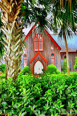 Photograph - Come Worship At Church Of The Cross Bluffton Sc by Lisa Wooten
