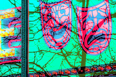 Photograph - Comedy And Tragedy V4 Dsc0591 by Raymond Kunst